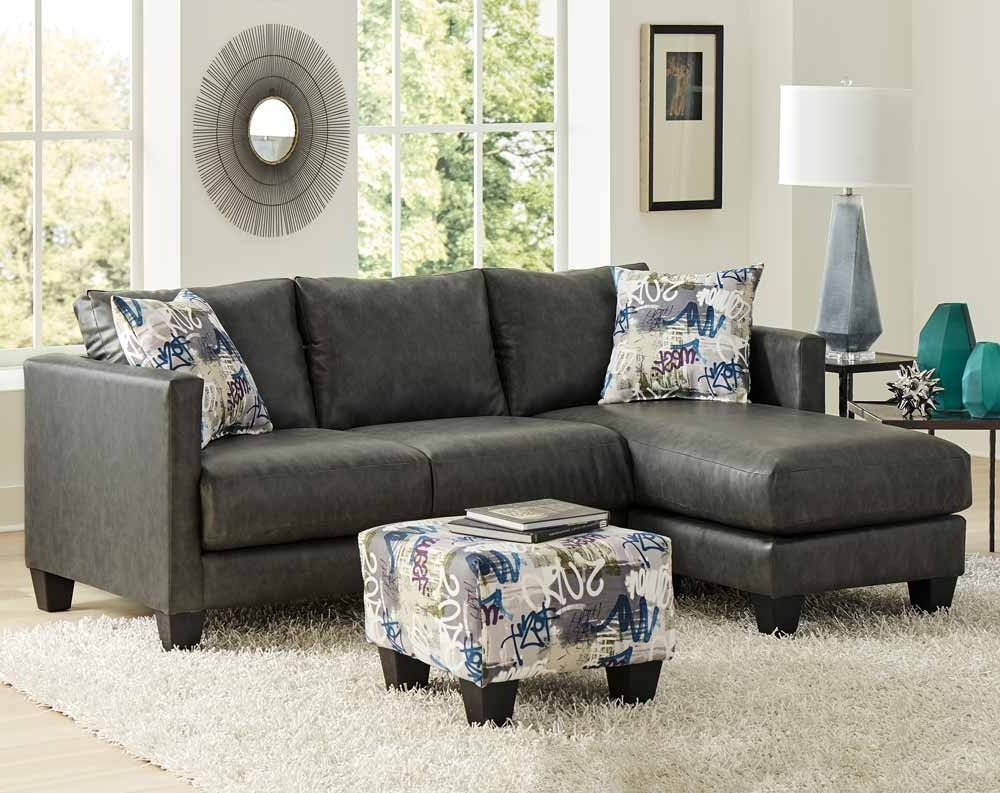 Preferred Stallion Charcoal Sectional Sofa (View 14 of 20)