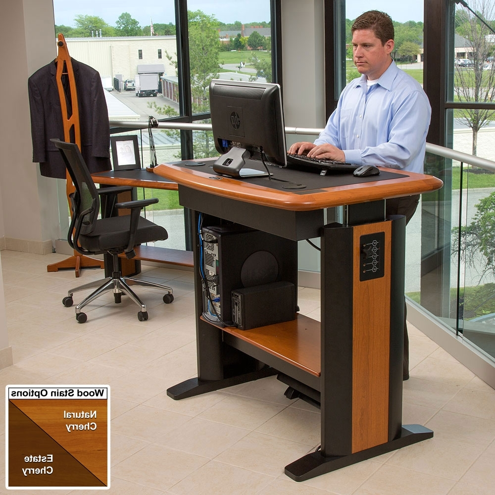 Preferred Standing Computer Desk Petite – Caretta Workspace Regarding Standing Computer Desks (Gallery 3 of 20)