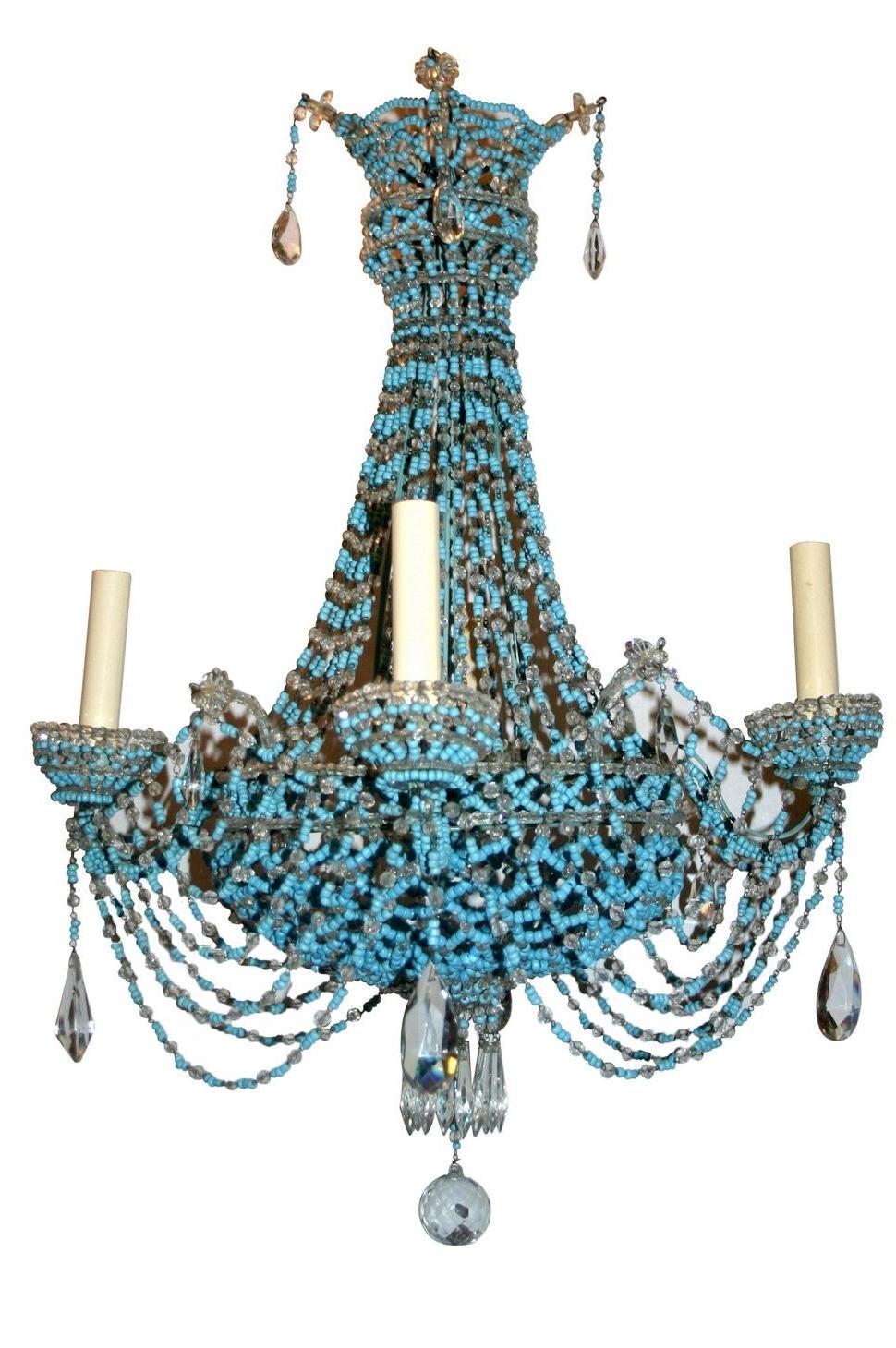 Preferred Turquoise Beaded Chandelier Light Fixtures In Lighting : Regina Andrew Turquoise Chandelier Light Wood Diy Small (Gallery 20 of 20)