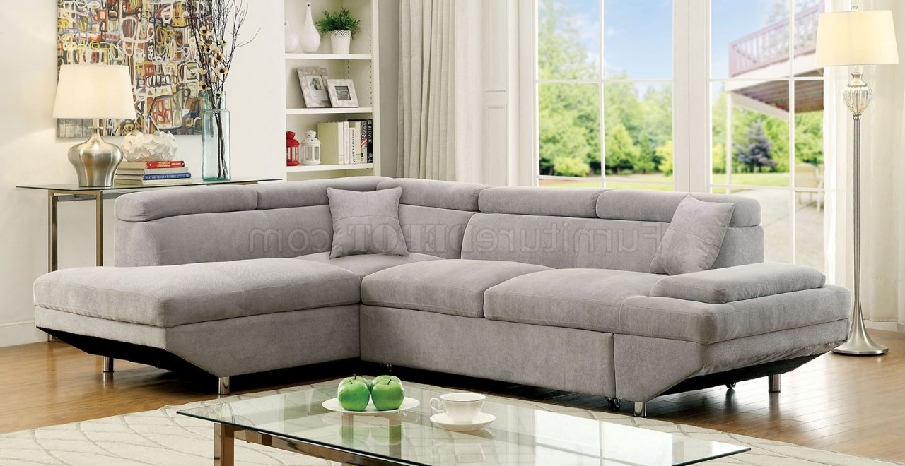 Preferred Vt Sectional Sofas With Regard To Foreman Sectional Sofa Cm6124Gy In Gray Fabric (View 11 of 21)