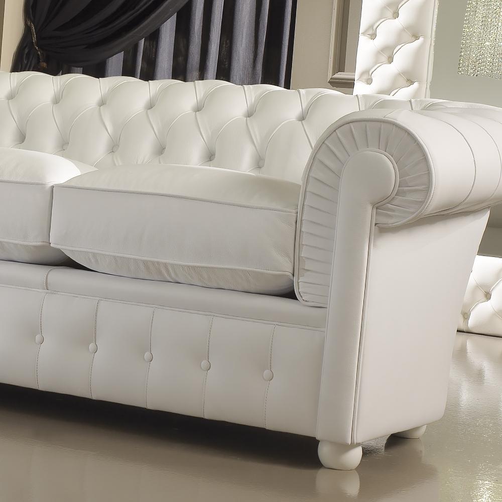 Preferred White Leather Sofas Inside Luxury Italian Premium White Leather Sofa (View 14 of 20)