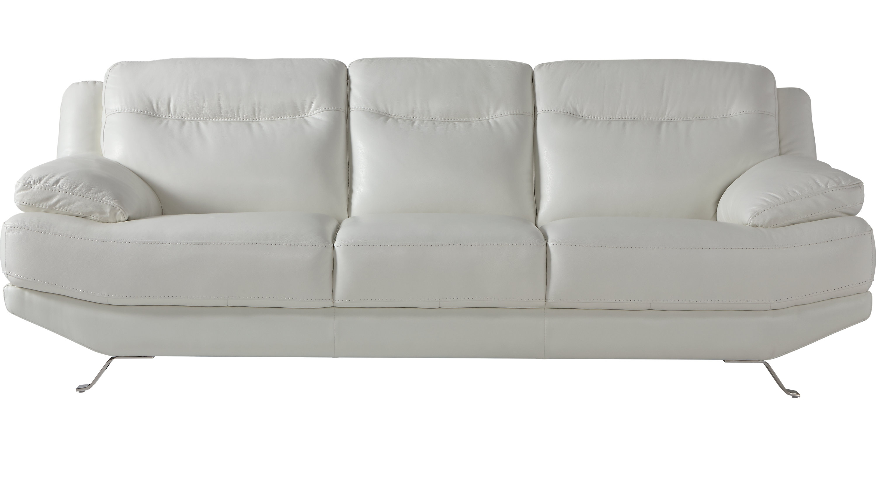 Preferred White Leather Sofas Regarding White Leather Sofas & Couches (View 13 of 20)