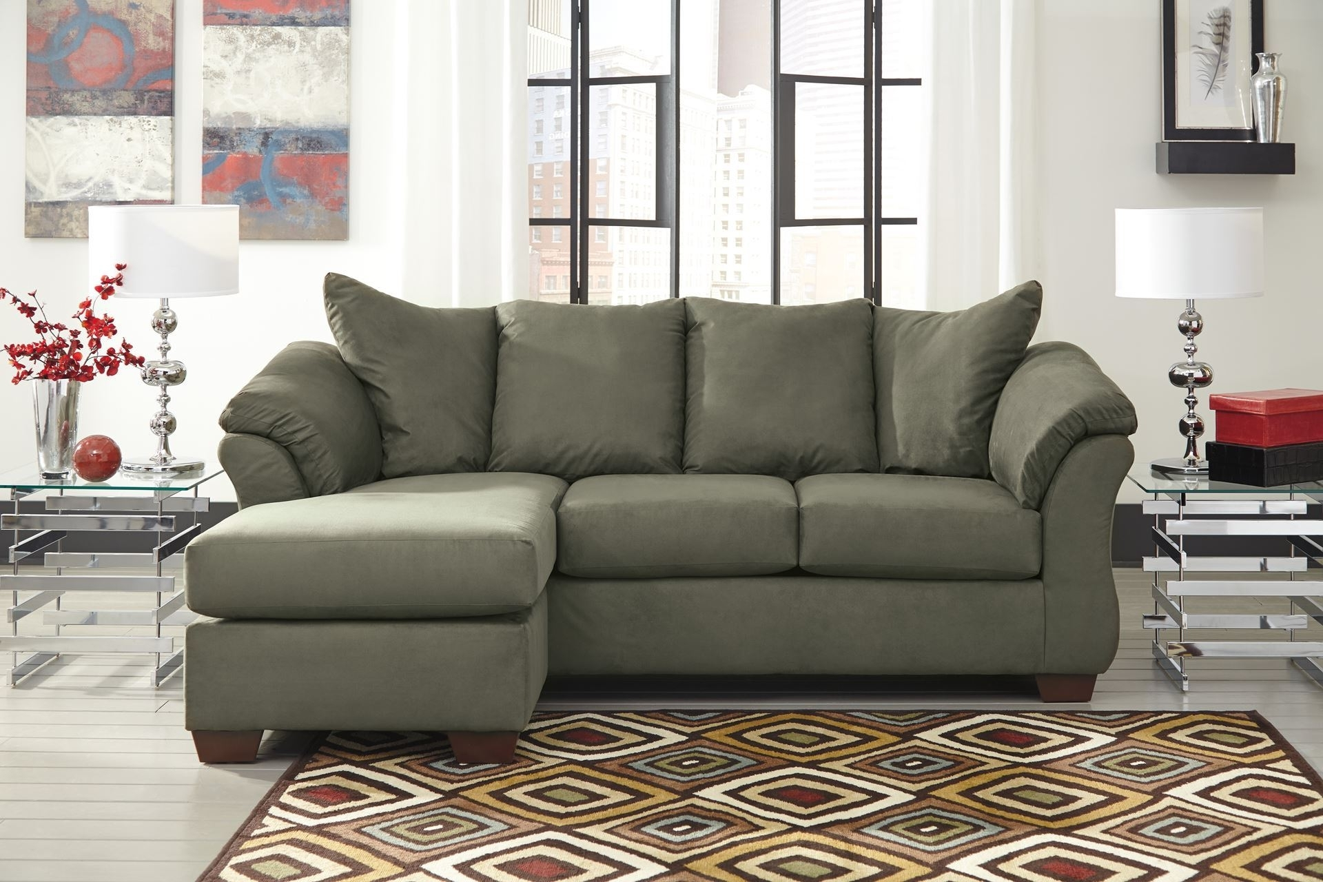 Preferred Wilmington Nc Sectional Sofas Throughout Darcy – Sage Sofa Chaise – Chaise (View 12 of 20)