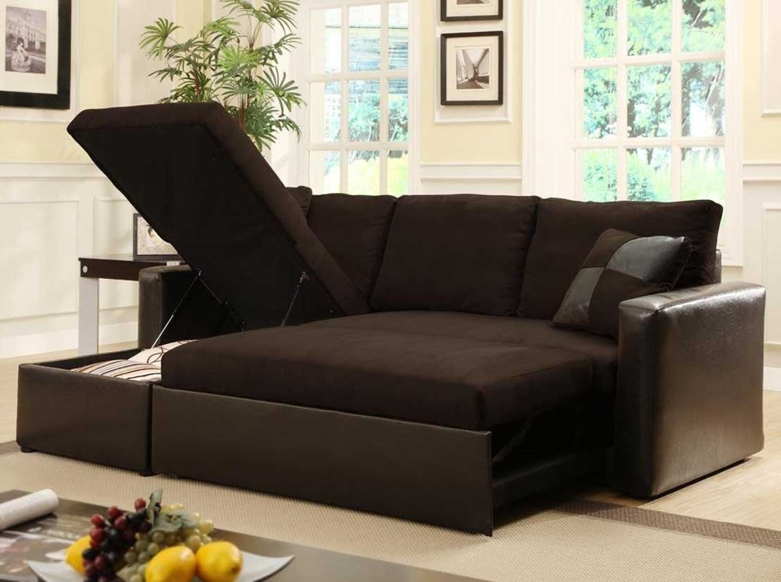 Pull Out Beds Sectional Sofas In Recent Sofa : Brown Sofa Pull Out Couch Mini Couch For Bedroom Couch And (View 10 of 20)