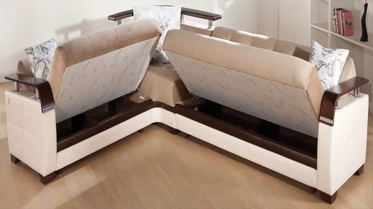 Pull Out Beds Sectional Sofas With Regard To Famous Awesome Sectional Sofa Pull Out Bed – Youtube (View 14 of 20)