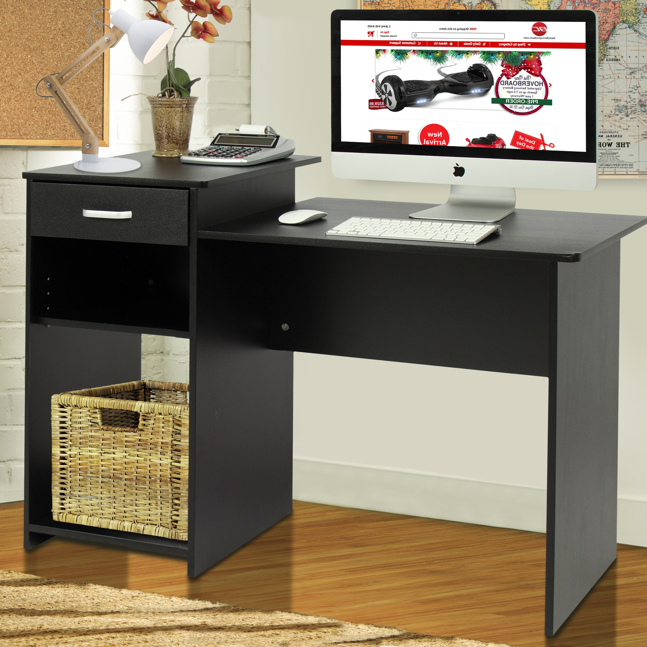 Quality Computer Desks Pertaining To 2018 Best Choice Products Student Computer Desk Home Office Wood Laptop (Gallery 16 of 20)