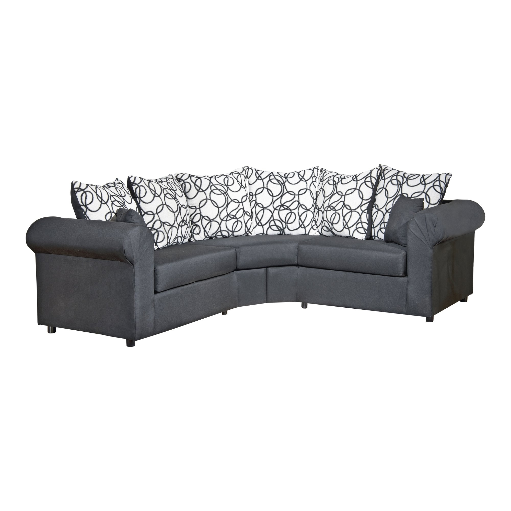 Quebec Sectional Sofas In Widely Used Modern Light Grey Fabric Sectional Sofa Leather Mason Divani Casa (View 14 of 20)