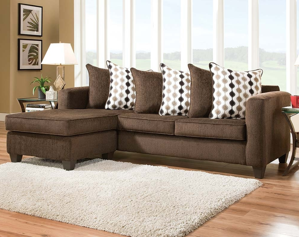 Radar Mahogany Two Piece Sectional In Evansville In Sectional Sofas (View 15 of 20)