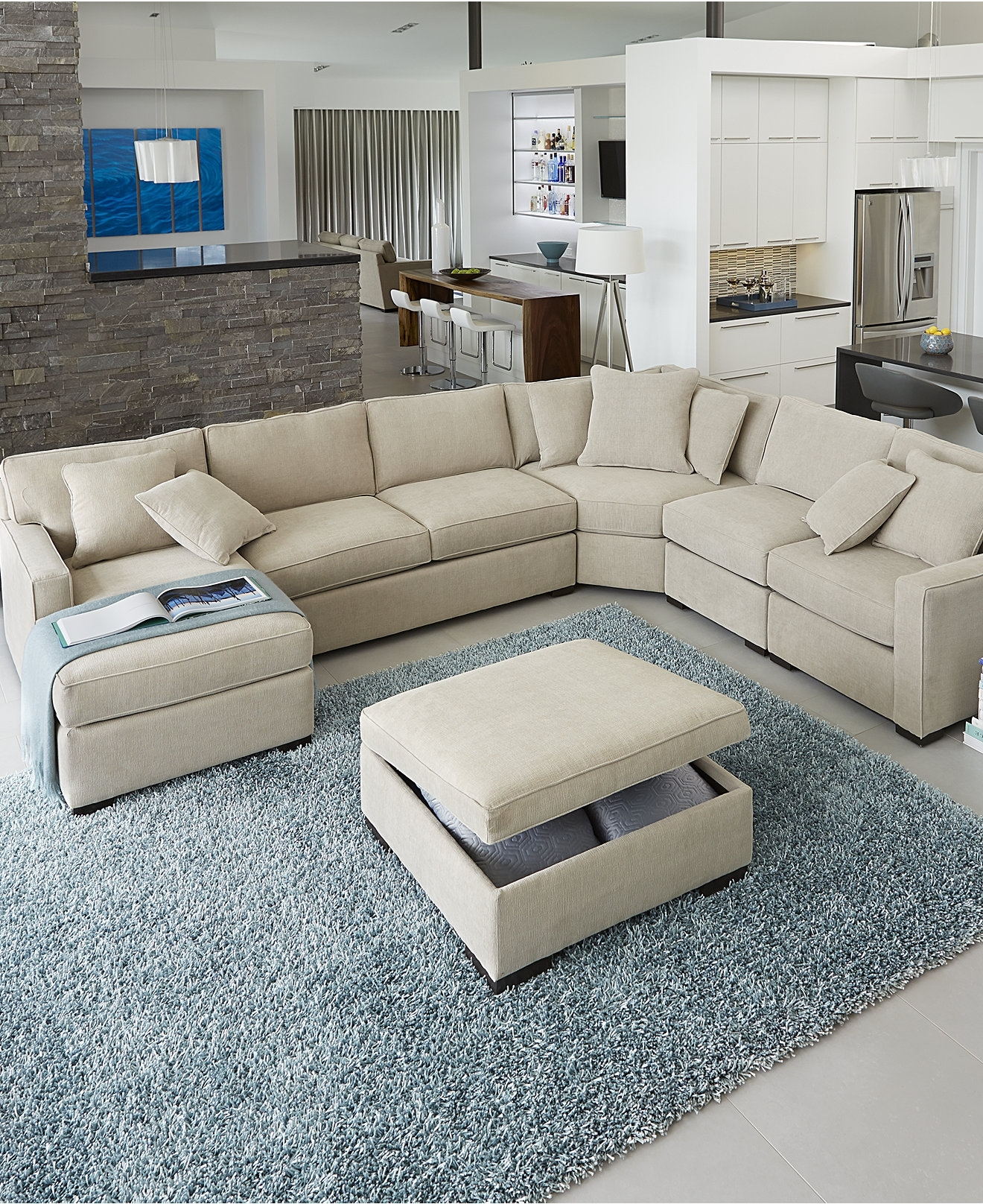 Radley Fabricectionalofa Collection Created For Macys Blue Living With Popular Sectional Sofas In Philippines (View 12 of 20)