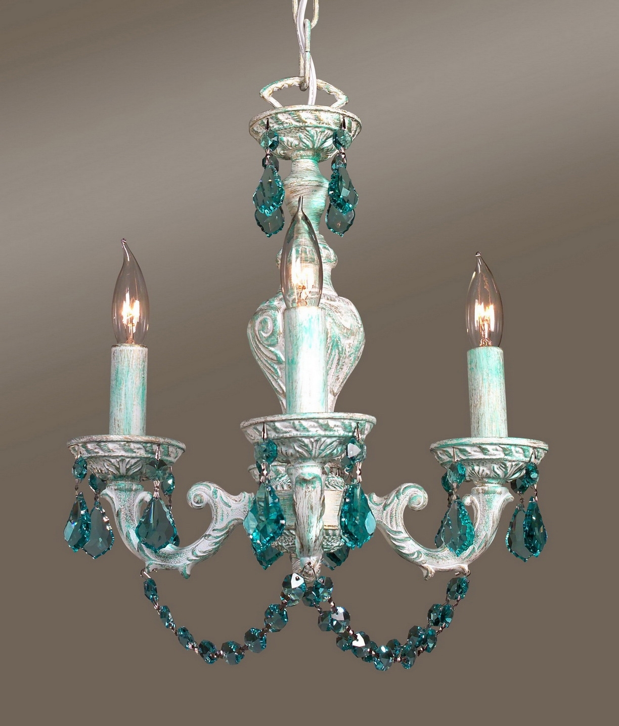 Real Intended For Turquoise Mini Chandeliers (View 3 of 20)