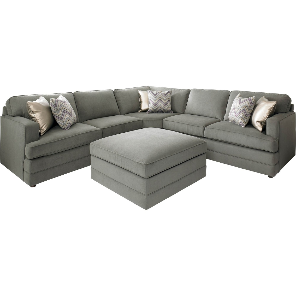 Recent Bassett Dalton L Shaped Sectional Sofa With Ottoman (View 10 of 20)