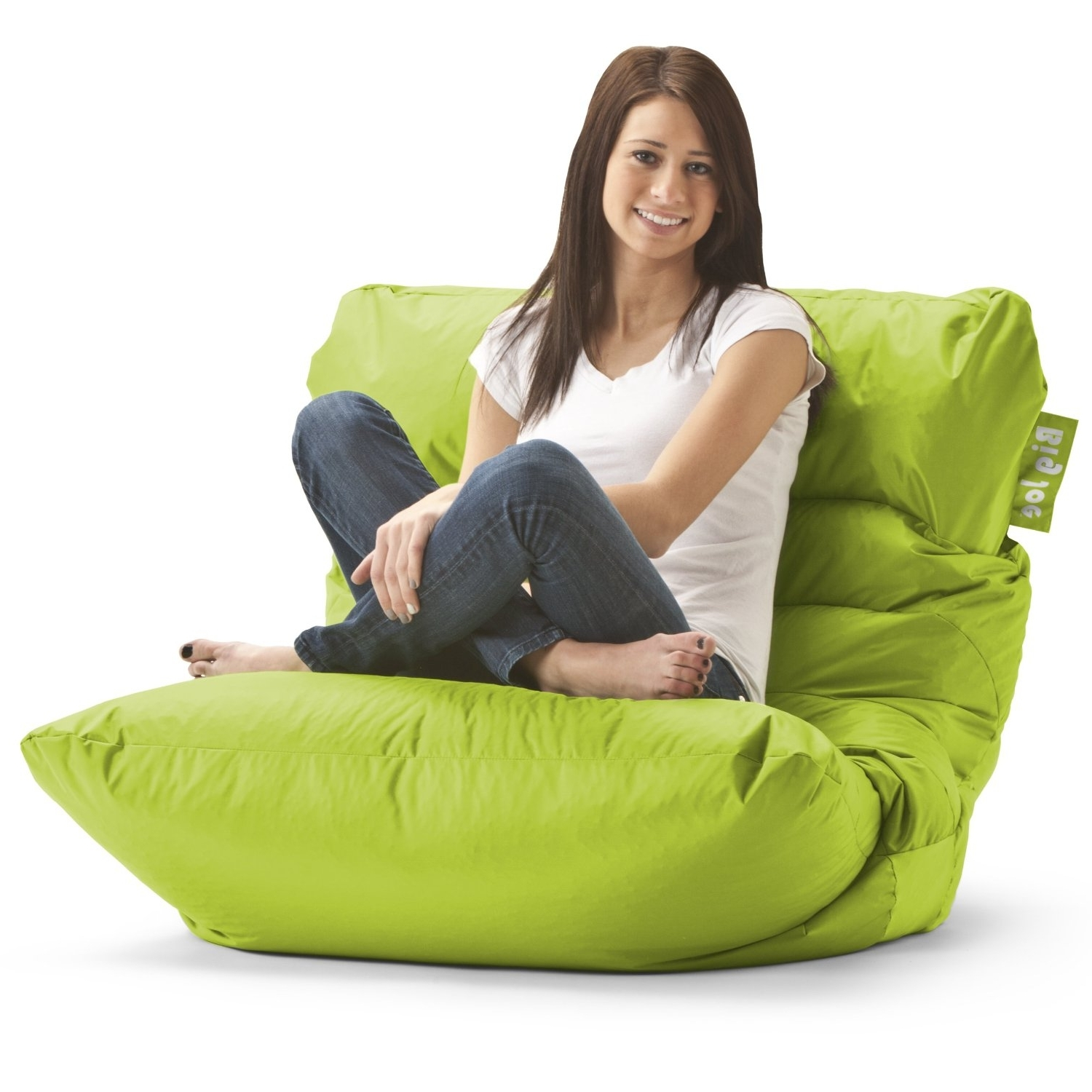 Recent Bean Bag Sofas And Chairs Within Amazon – Big Joe Roma Bean Bag Chair, Spicy Lime – Beanbag (View 4 of 20)