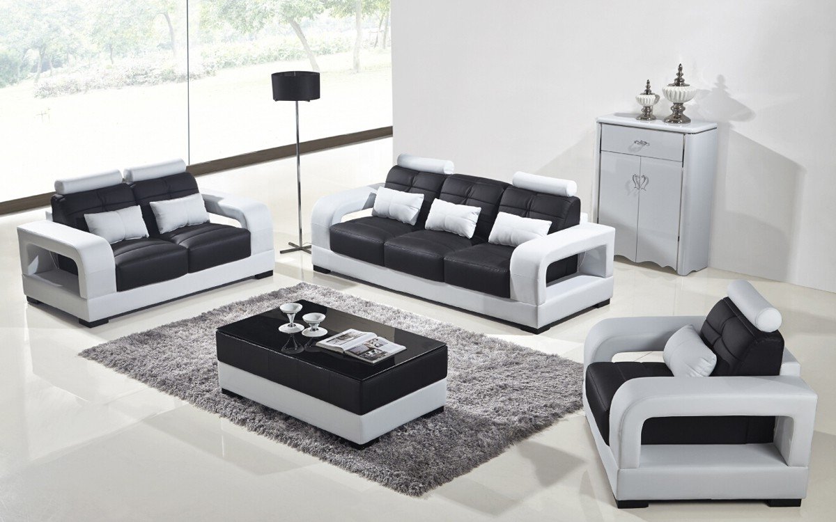 Recent Beautiful Black And White Leather Sofas 62 In With Black And White In Black And White Sofas (View 11 of 20)