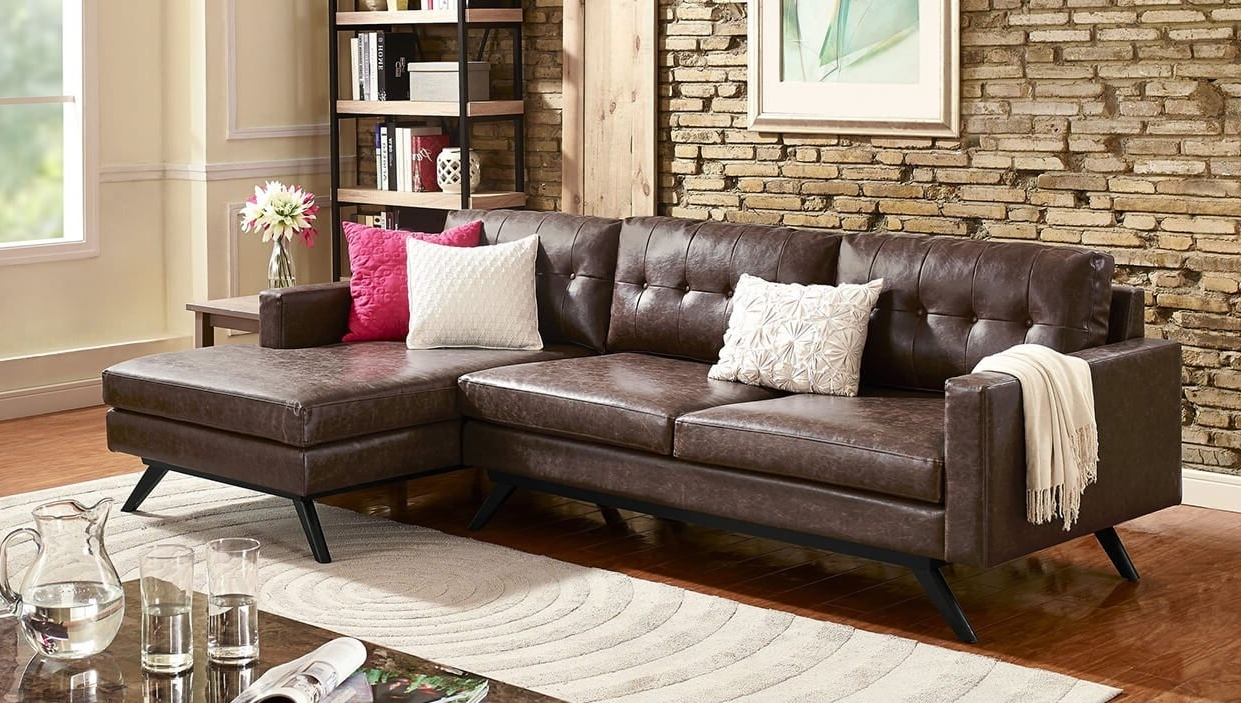 Recent Best Sectional Sofas For Small Spaces – Overstock For Mini Sectional Sofas (View 13 of 20)