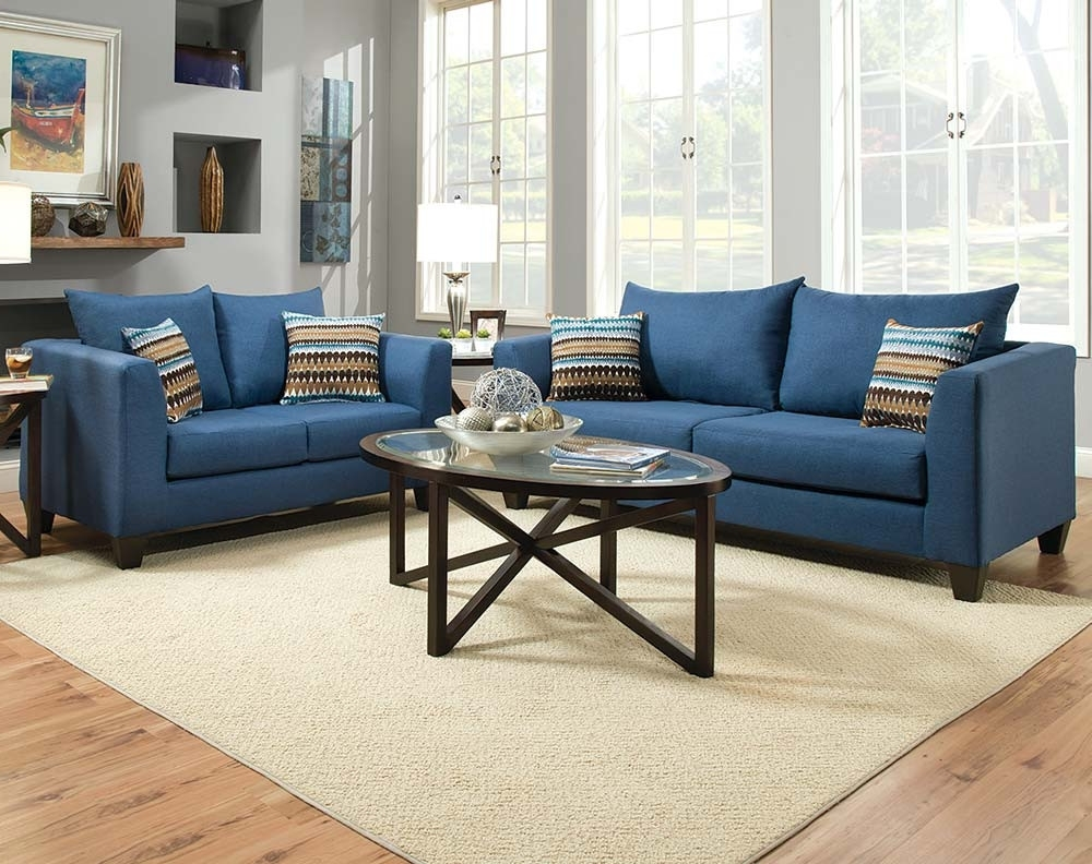 Recent Blue Sofa Chairs Regarding Discount Living Room Furniture & Living Room Sets (View 17 of 20)