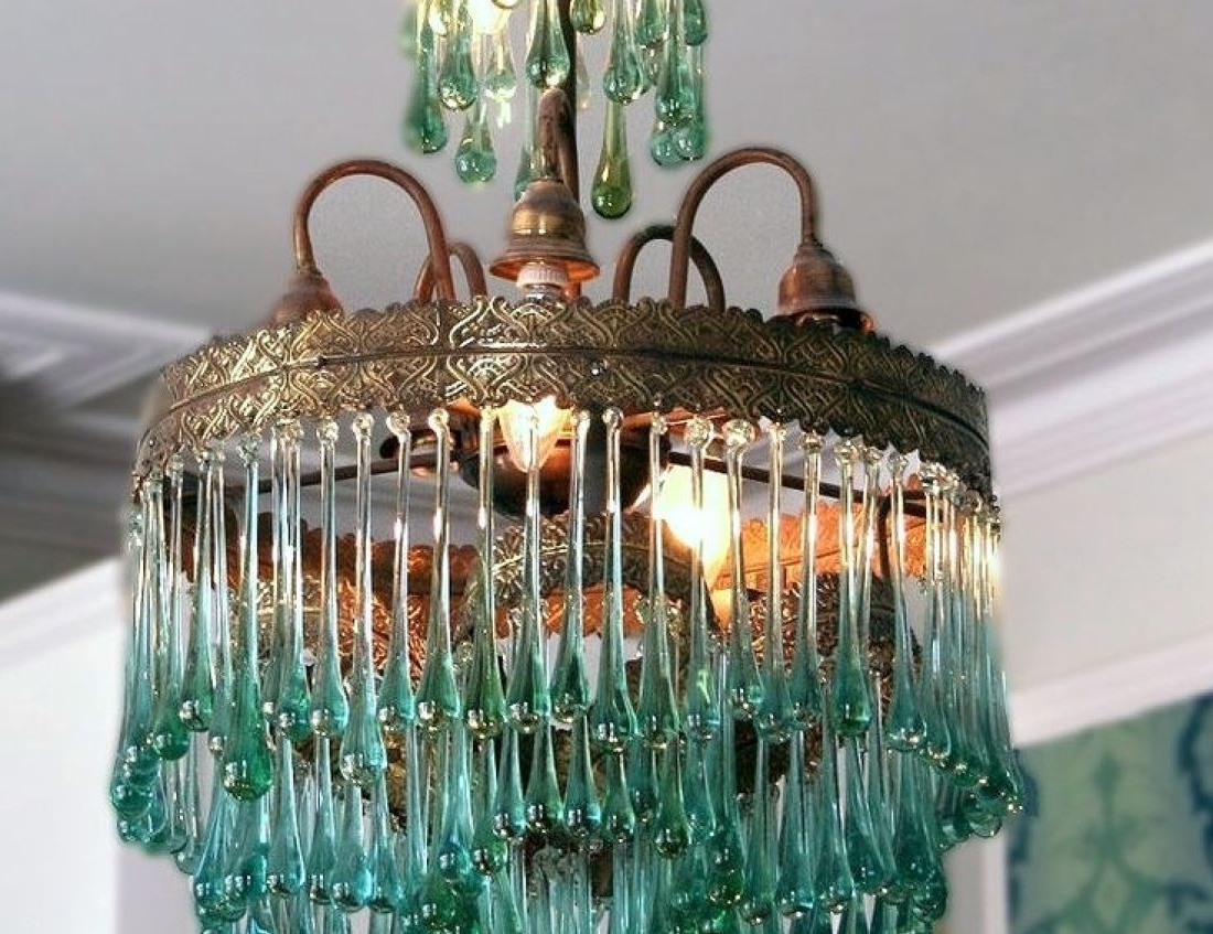 Recent Chandelier : Girl Room Chandelier Wonderful Turquoise Gem Chandelier Regarding Turquoise Gem Chandelier Lamps (View 1 of 20)