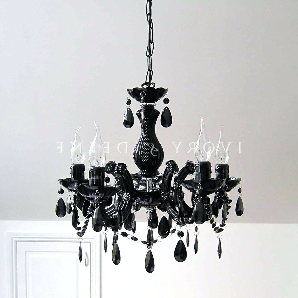 Recent Chandeliers ~ Black Chandelier Bedside Lamps Small Black Chandelier Throughout Vintage Black Chandelier (View 14 of 20)