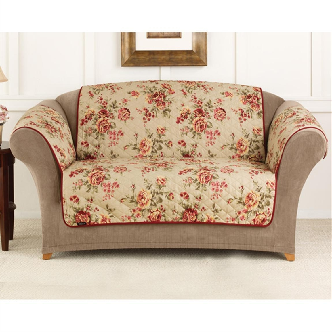 Recent Chintz Covered Sofas Pertaining To Furniture : Covers For Sofas And Couch Sure Fit Lexington Floral (View 4 of 20)