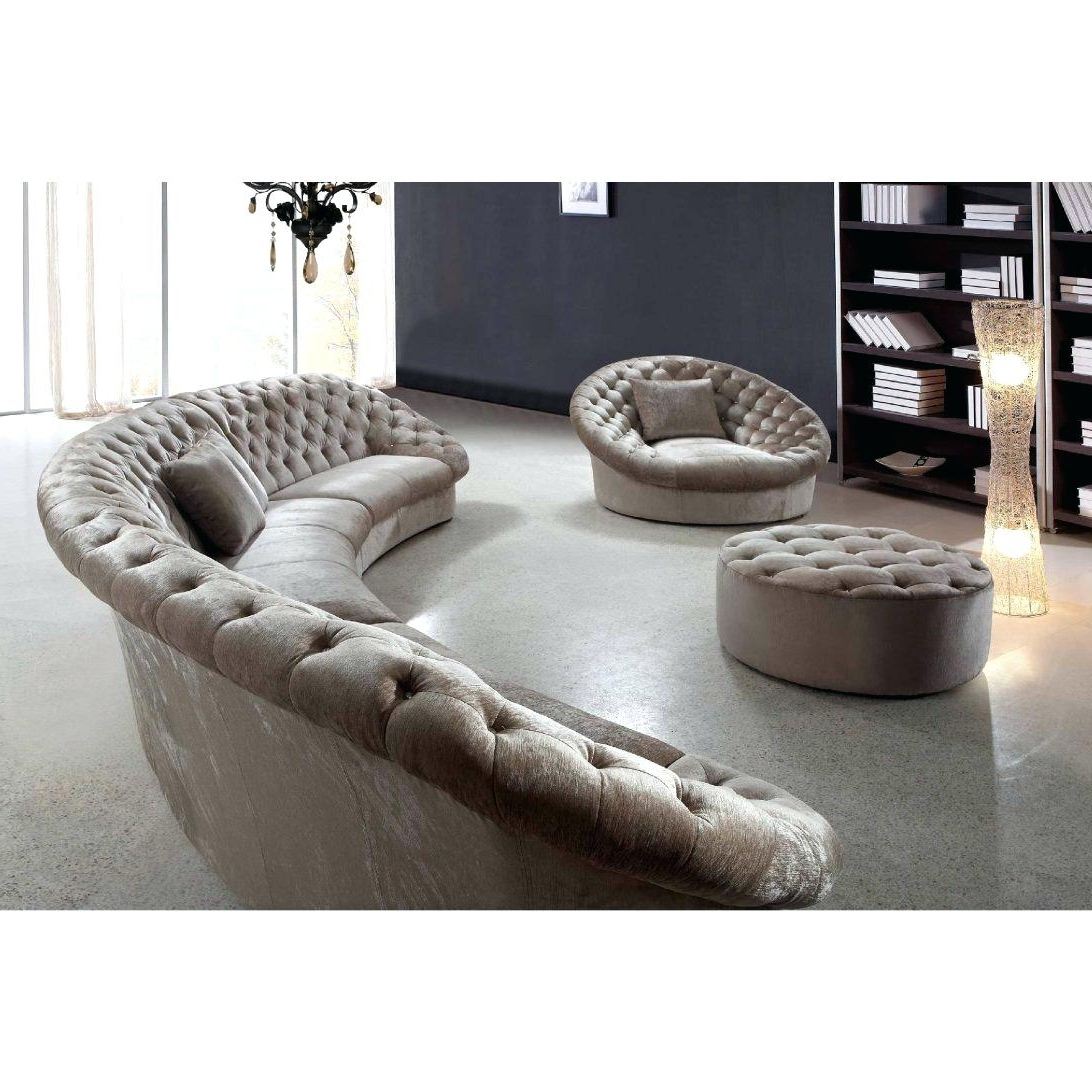 Recent Circular Sectional Sofa Sa Sas Bed Semi Circle Couches Modern Intended For Semicircular Sofas (View 14 of 20)
