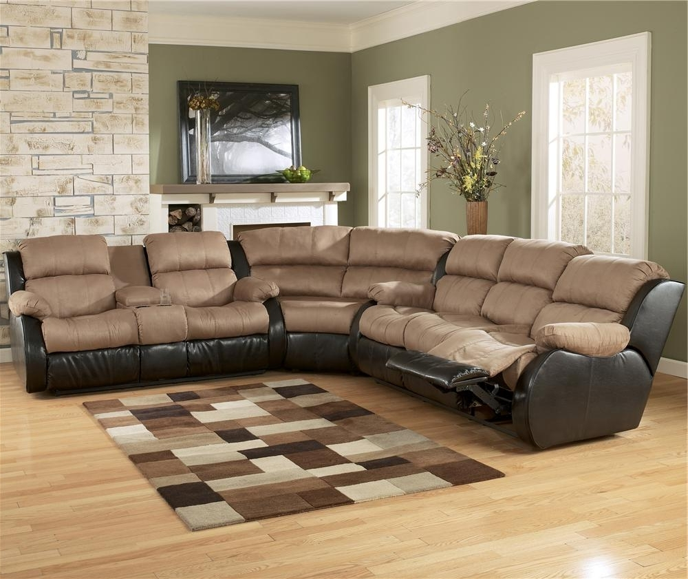 Recent Clarksville Tn Sectional Sofas Throughout Ashley Furniture Presley – Cocoa L Shaped Sectional Sofa With Full (View 15 of 20)