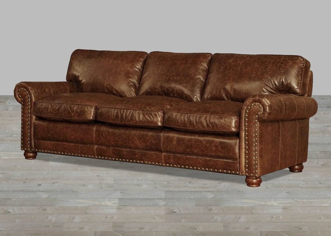 Recent Coco Brompton Leather Vintage Sofa With Regard To Vintage Sofas (View 3 of 20)