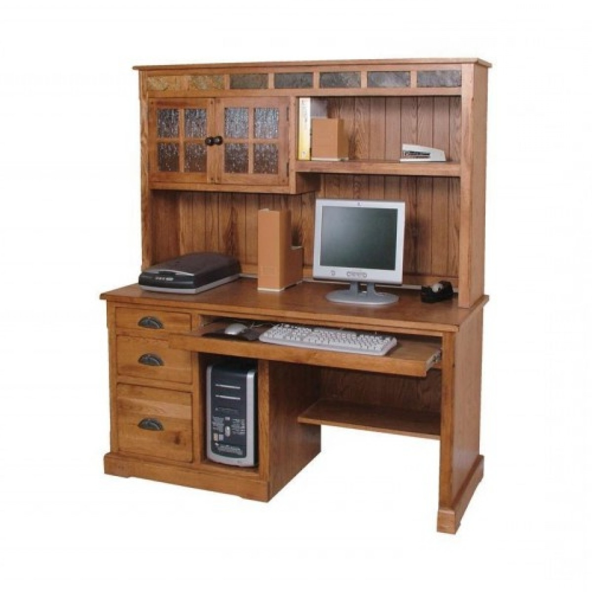 "Recent Computer Desks Under $500 In Sedona 58"" Hutch And Desk (View 17 of 20)"
