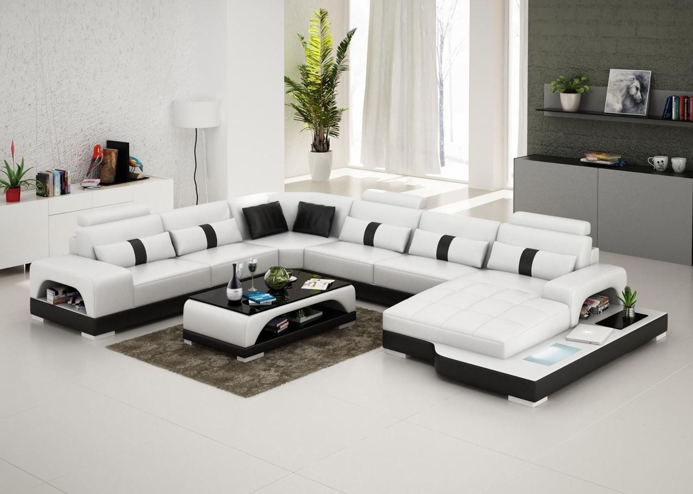 Recent Connie Sectional Sofa – Leather Living Room Furniture – Fancy With Regard To Fancy Sofas (View 18 of 20)
