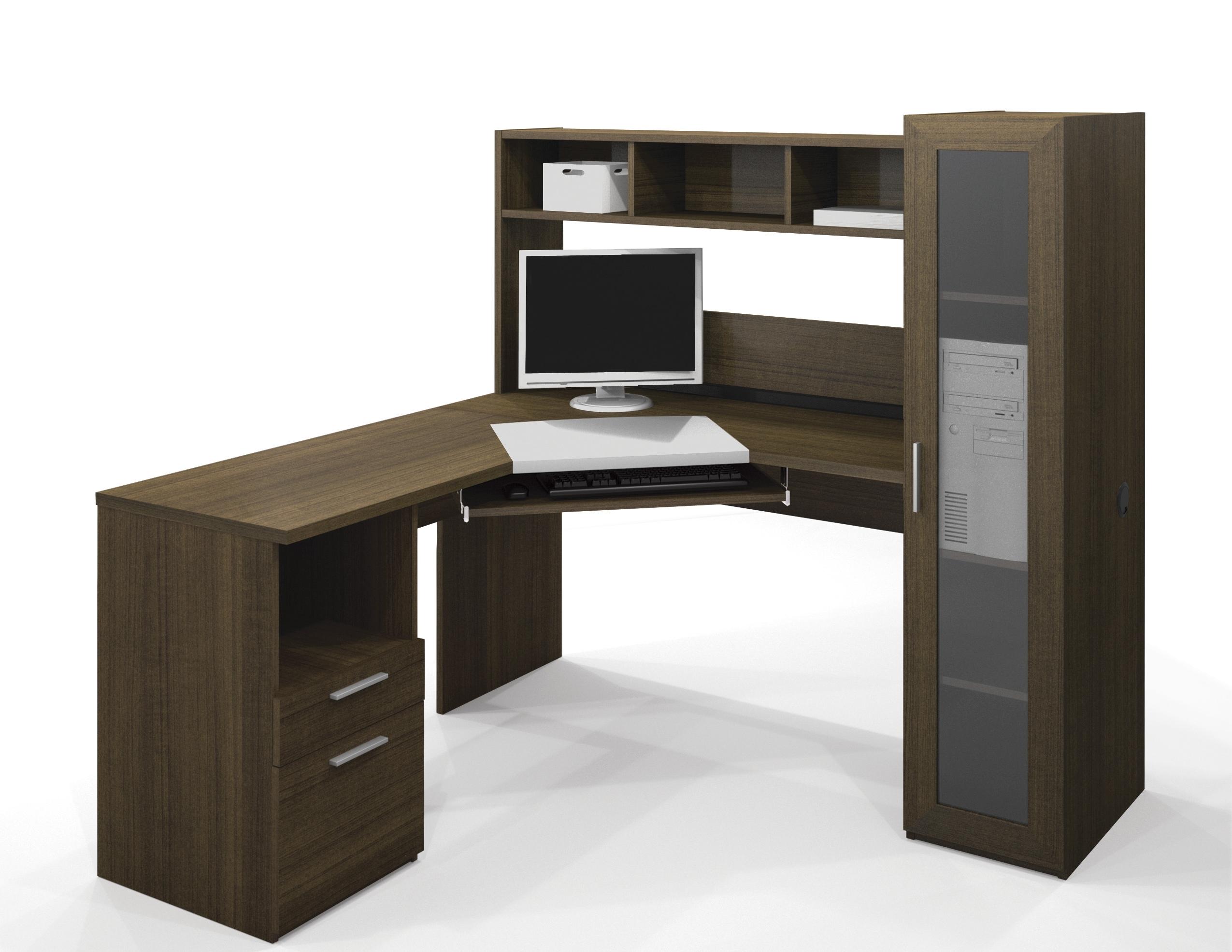 Recent Corner Computer Desks Regarding Bestar Jazz Corner Computer Desk 90432 (View 6 of 20)