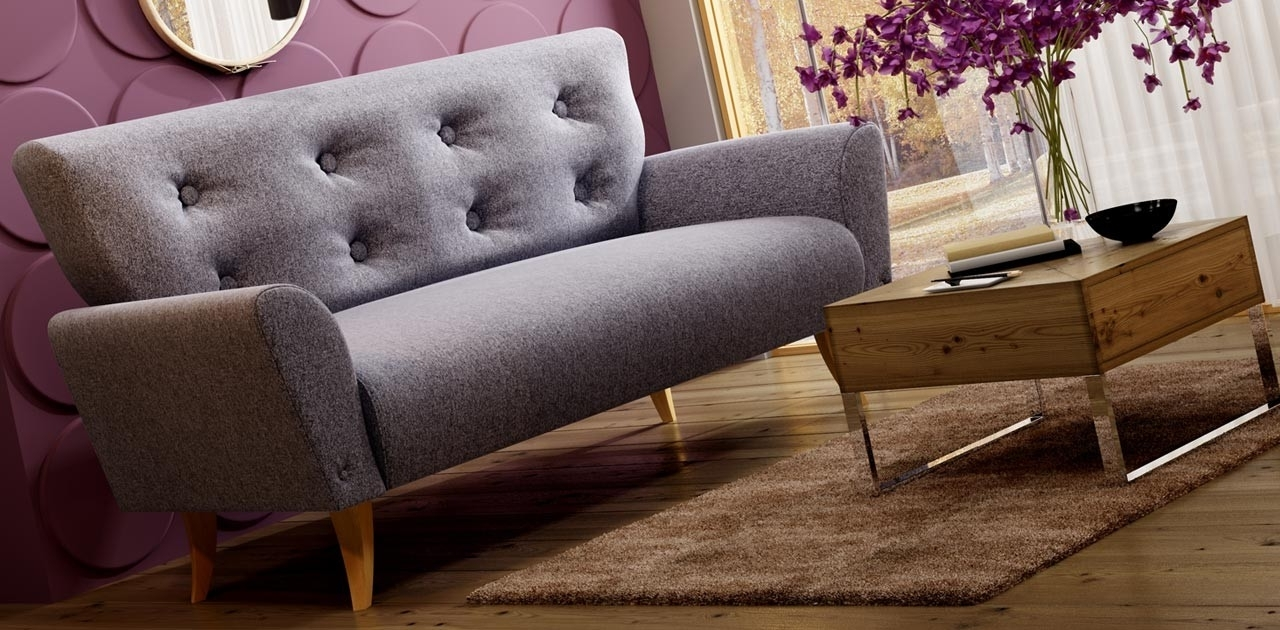 Recent Diva 3 Seater Retro Sofa – Fabric Sofas For Retro Sofas (View 15 of 20)