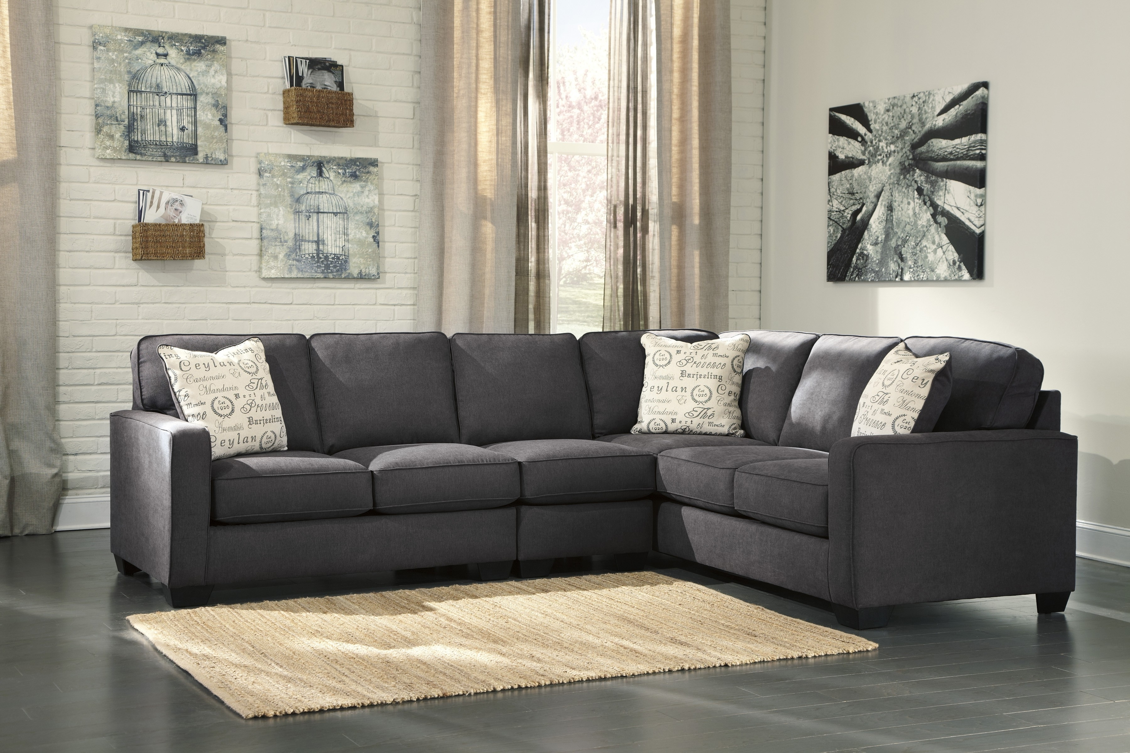 Recent Elk Grove Ca Sectional Sofas With Regard To Alenya Charcoal 3 Piece Sectional Sofa For $ (View 18 of 20)
