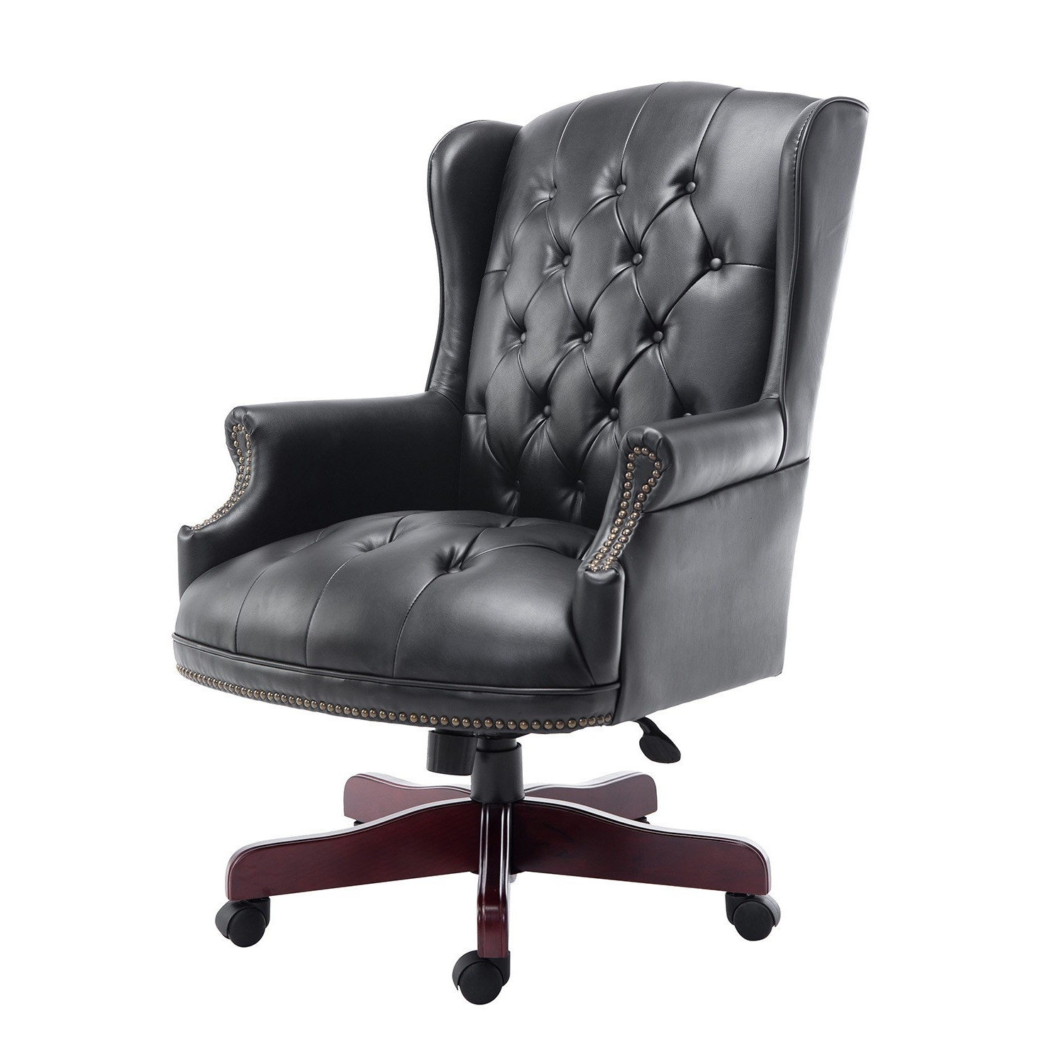 Recent Executive Pu Leather Office Chair Black Throughout Executive Office Armchairs (View 1 of 20)