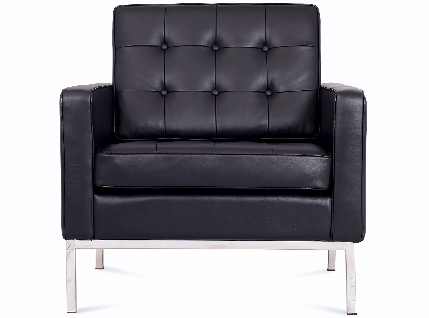 Recent Florence Knoll Armchair Leather (Platinum Replica) In Florence Knoll Leather Sofas (View 14 of 20)