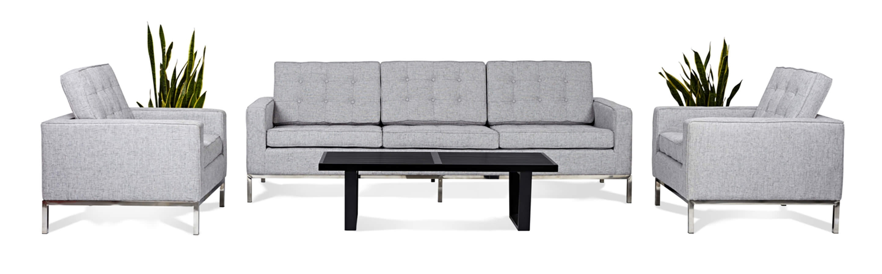 Recent Florence Knoll Style Living Room Sets Intended For Florence Knoll Style Sofas (View 18 of 20)