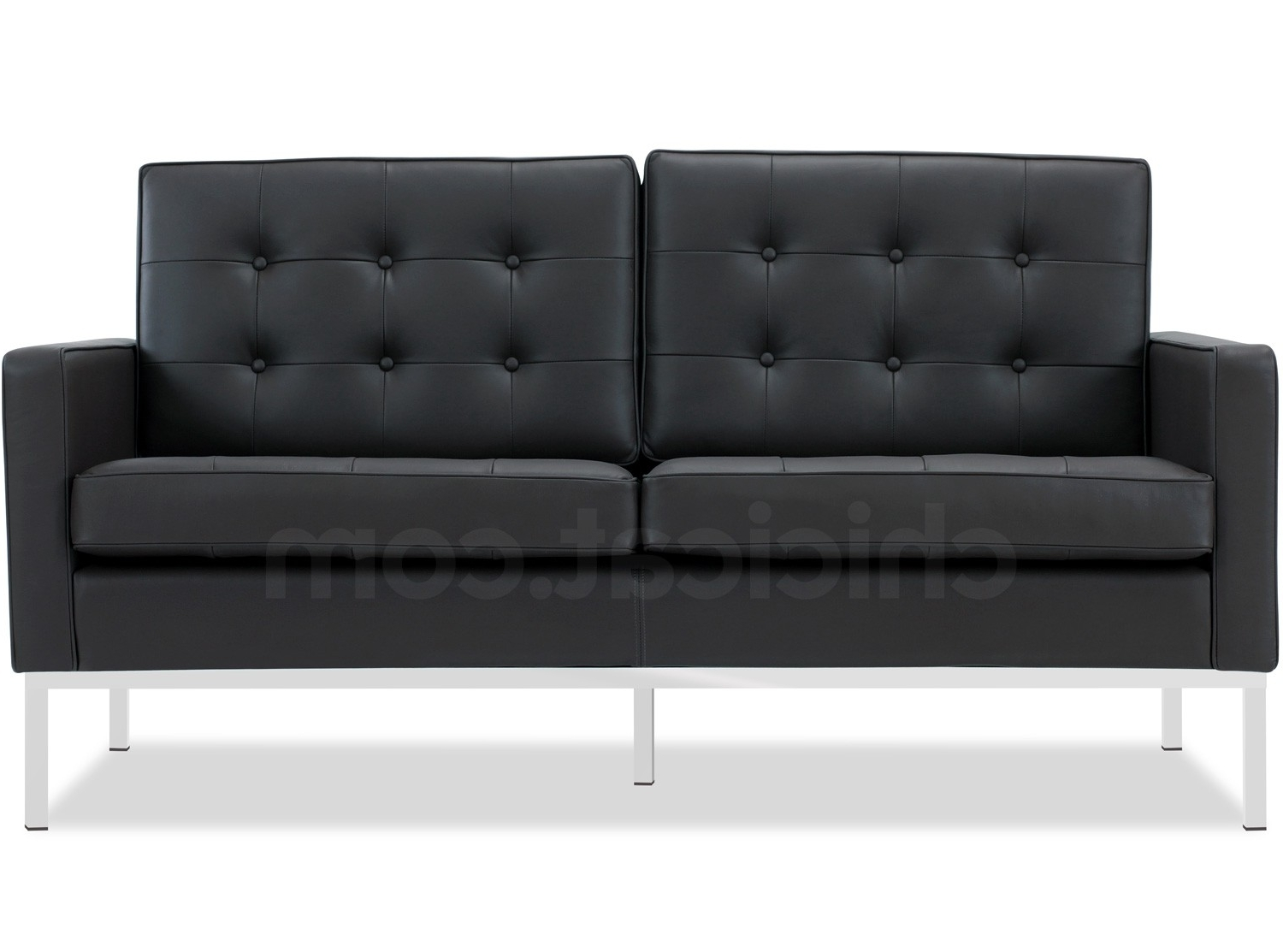 Recent Florence Sofas And Loveseats Intended For Florence Knoll Sofa 2 Seater Leather (Platinum Replica) (View 11 of 20)