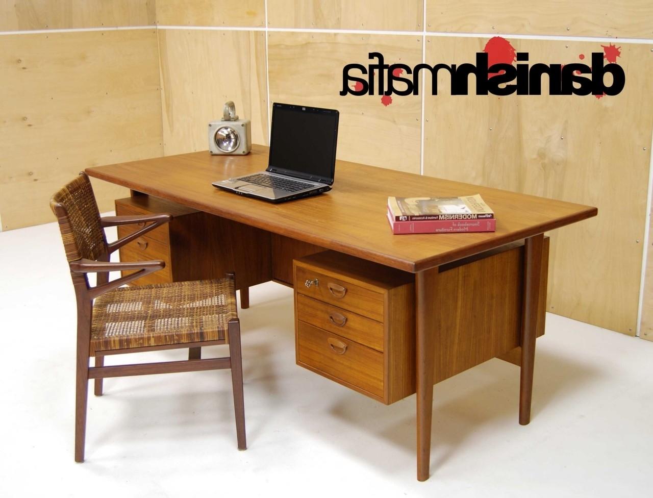 Recent Huge Mid Century Danish Modern Teak Kai Kristiansen Office Desk For Teak Computer Desks (View 4 of 20)