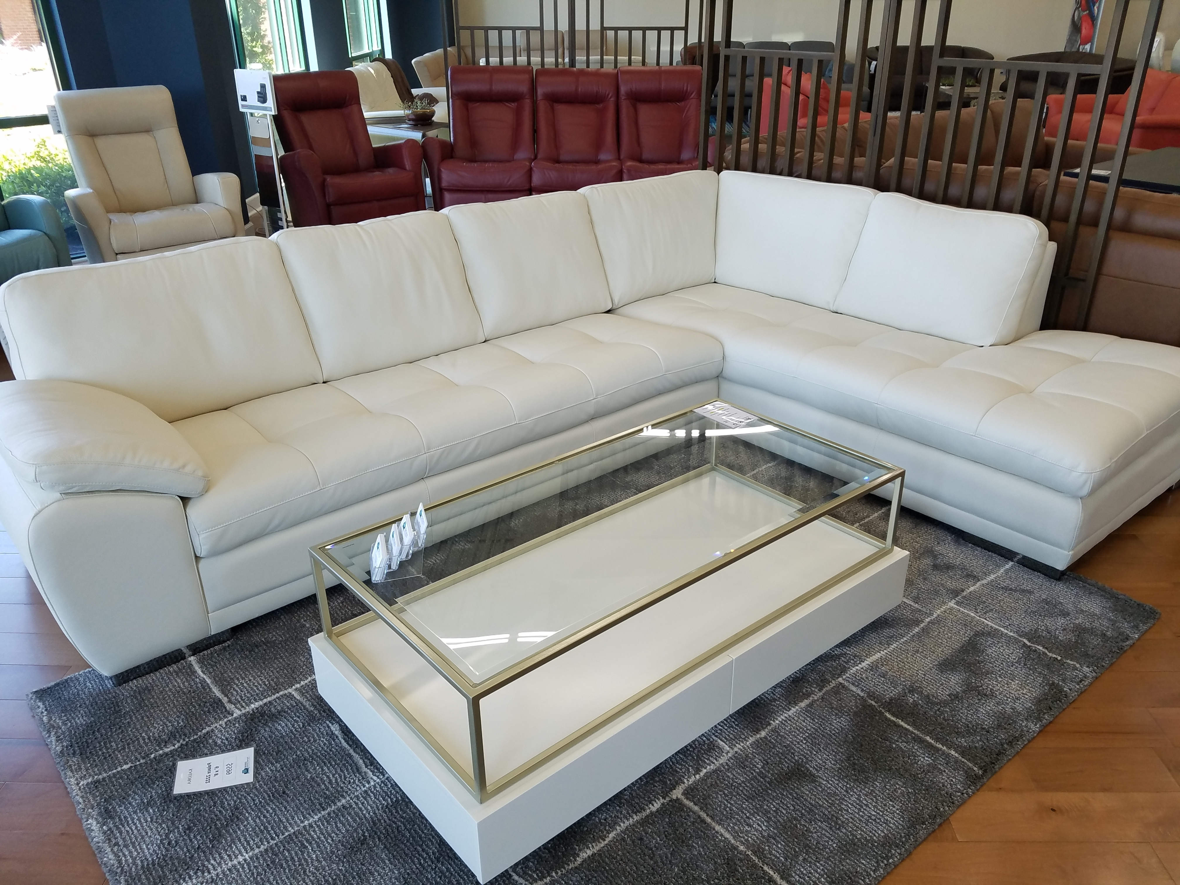 Recent Miami Sectional Sofas With Regard To Palliser Miami Sectional Lhf Chaise Bumper And Rhf Sofa Leather (View 16 of 20)