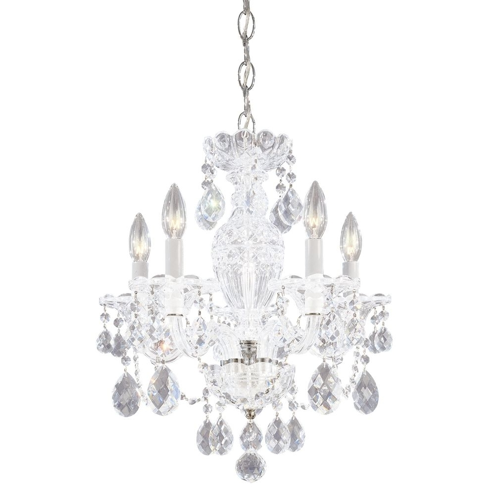 Recent Mini Crystal Chandeliers – Mini Crystal Chandelier On Bathroom With Regard To Small White Chandeliers (View 9 of 20)