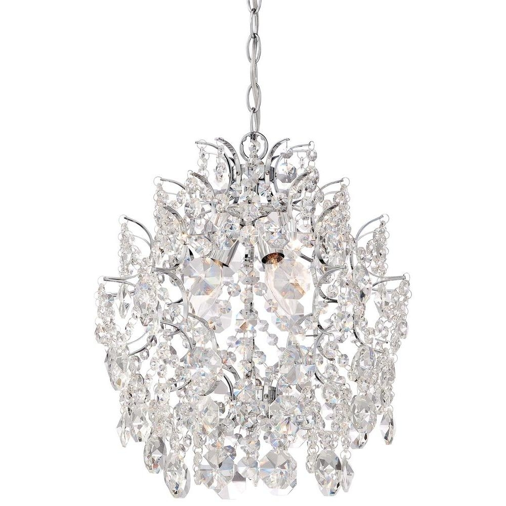 Recent Minka Lavery 3 Light Chrome Mini Chandelier 3150 77 – The Home Depot Within Small Chrome Chandelier (View 11 of 20)
