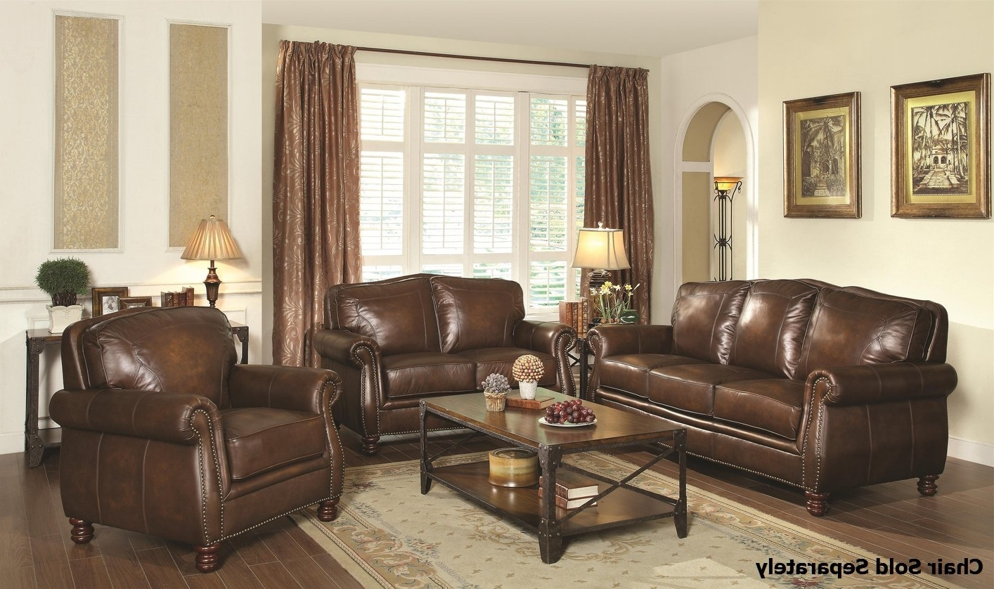 Recent Montbrook Brown Leather Sofa And Loveseat Set – Steal A Sofa Intended For Brown Sofa Chairs (View 8 of 20)