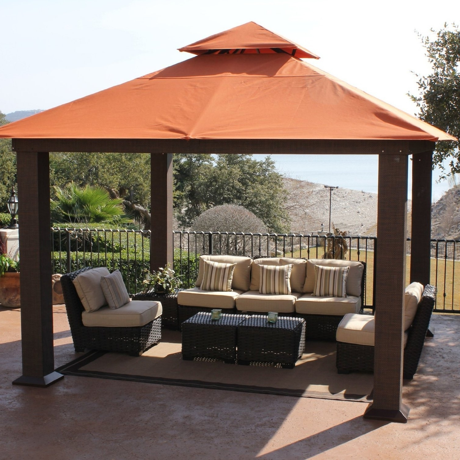 Recent Patio Furniture With Canopy – Mopeppers #0f32befb8dc4 In Outdoor Sofas With Canopy (View 11 of 20)