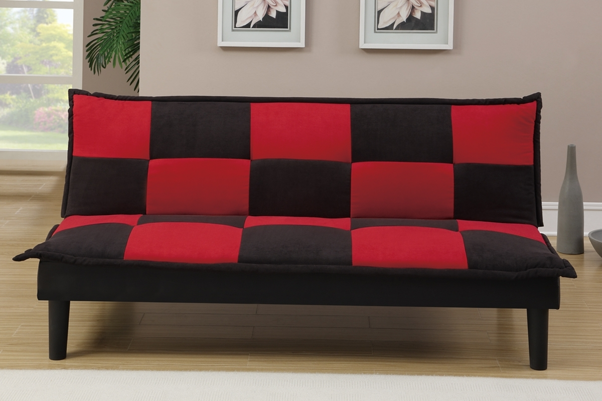 Recent Red And Black Sofas In Futons & Sofa Beds, Living Room – Red And Black Sofa Bed (View 4 of 20)