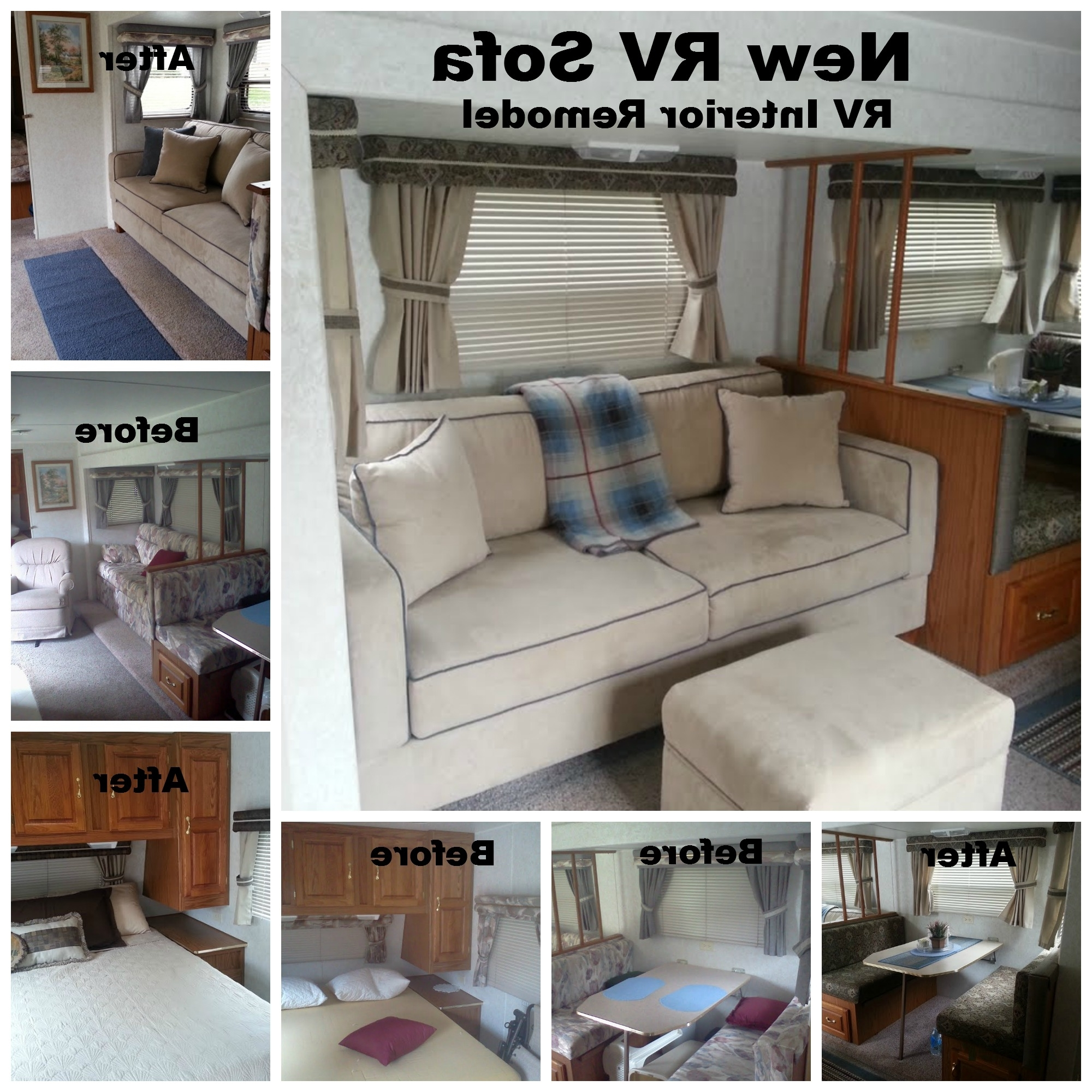 "Recent Sectional Sofas For Campers For My Rv (1999 Jayco) Remodel With My New Sofa 72"" X 34"" Sofa Fit (Gallery 6 of 20)"