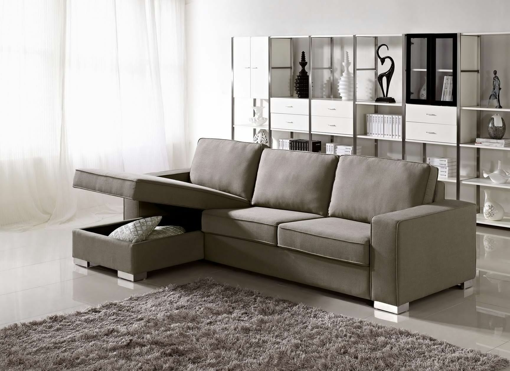 Recent Sectional Sofas For Condos Within Sectional Sofa Design: Apartment Size Sectional Sofa With Chaise (View 15 of 20)