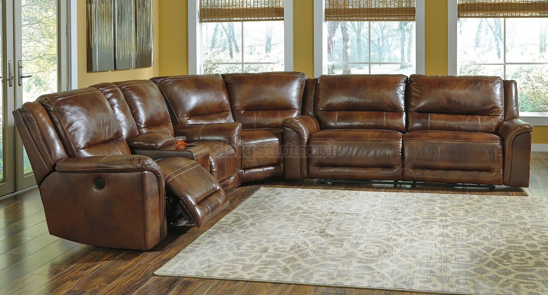 Recent Sectional Sofas With Power Recliners Inside Leather Sectional Sofa With Power Recliner 82 With Leather (View 13 of 20)