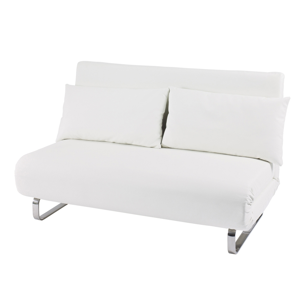 Recent Stylus Faux Leather Sofa Bed White – Dwell Throughout White Sofa Chairs (View 13 of 20)