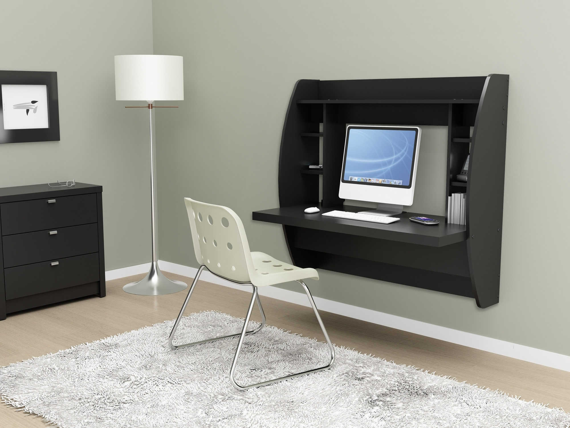 Recent Top 62 Beautiful Floating Wood Desk Foldable Desks Space Saving Pertaining To Wall Computer Desks (View 13 of 20)