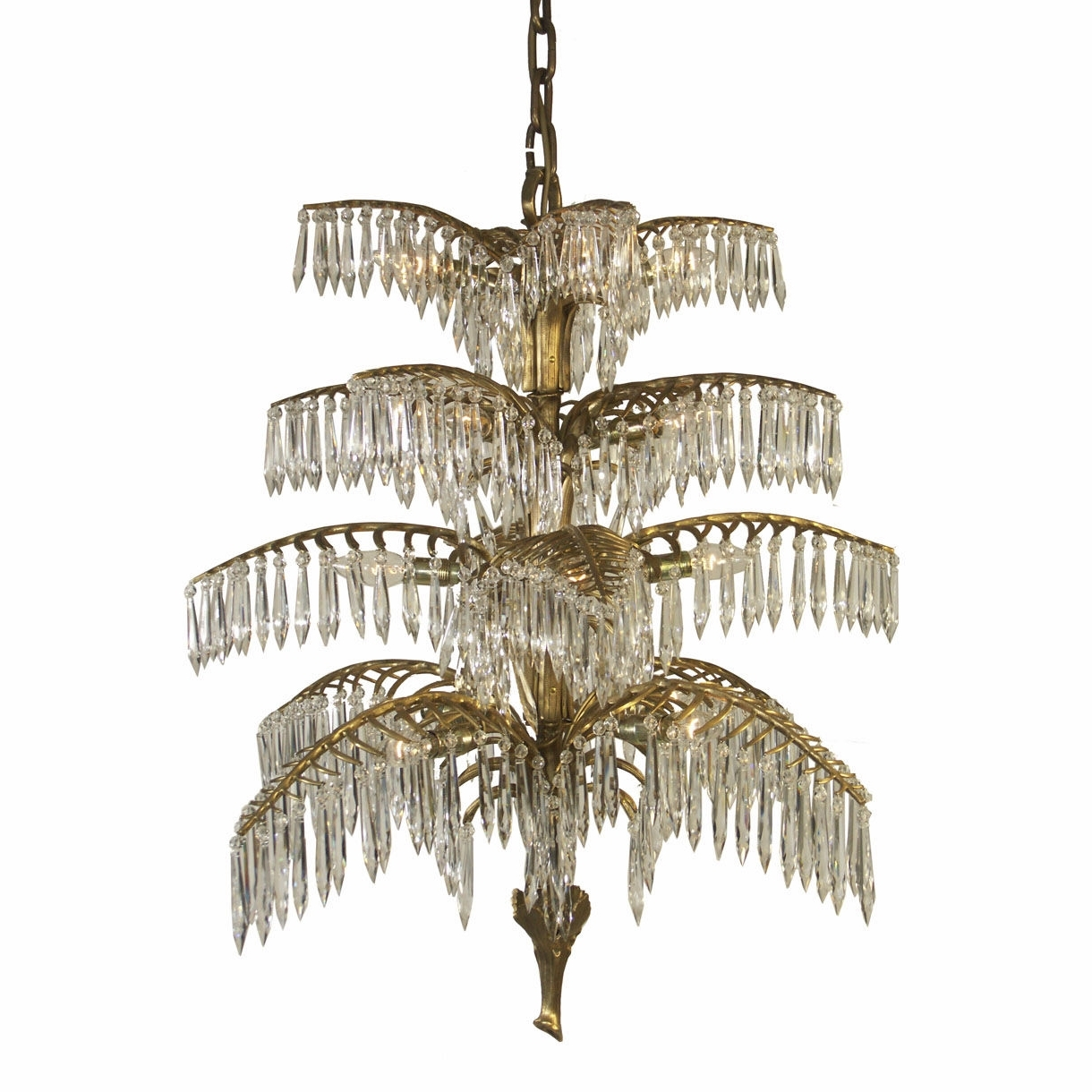 Recent Traditional Chandelier Throughout Traditional Chandelier / Crystal / Brass / Handmade – Palme  (View 4 of 20)