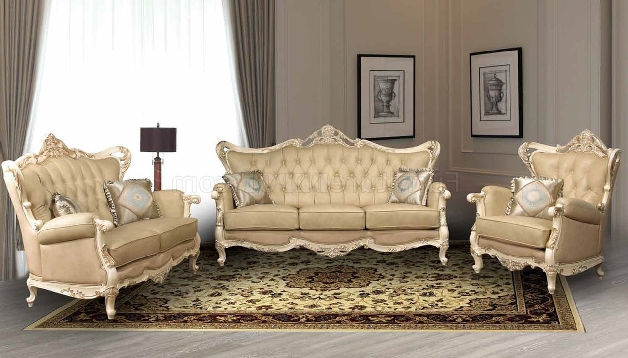 Recent Traditional Sofas Pertaining To Pearl Traditional Leather Sofa W/optional Loveseat & Chair (View 11 of 20)