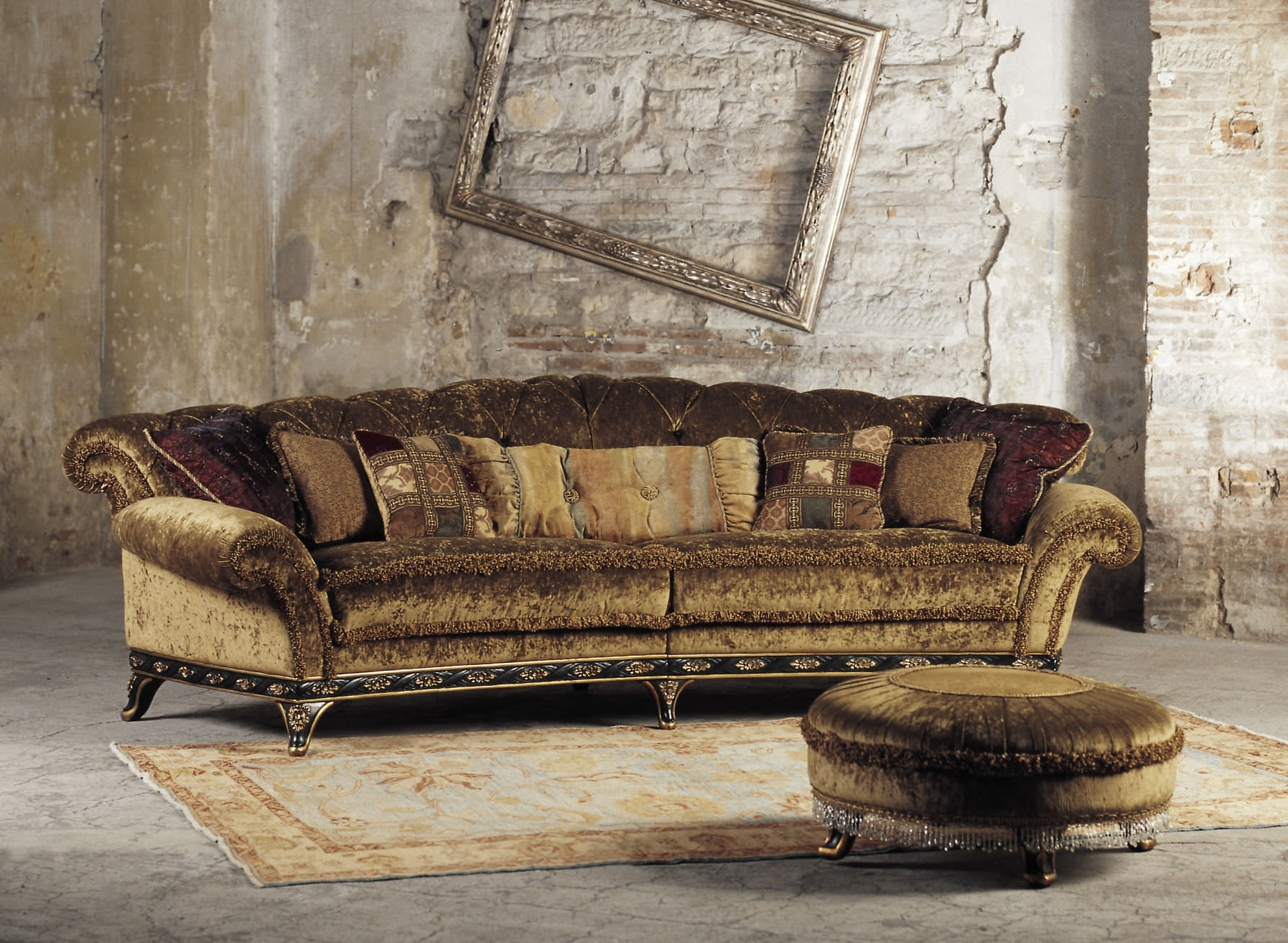 Recent Traditional Sofas With Sublime Classic Brown Velvet Large Wingback Traditional Sofas Feat (View 12 of 20)