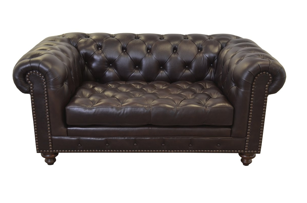 Recent Tufted Leather Chesterfield Sofas Intended For Westland And Birch Cambridge Genuine Top Grain Tufted Leather (View 7 of 20)